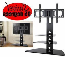 Universal LED LCD HDTV TV Stand 3 Shelf TV Mount Swivel Wall