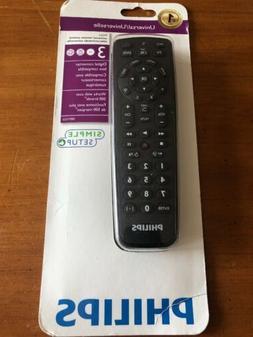 Philips Universal Remote. 3 - TV, SAT/VTV/DVD   N522