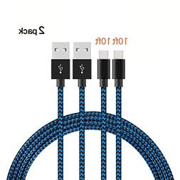 Ankoe USB Type C Cable, 2 Pack  Braided Nylon USB A to USB C