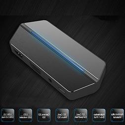 XFUNY USB-C HUB 8-in-1 Type-C USB Hub Adapter USB 3.0 HDMI 4