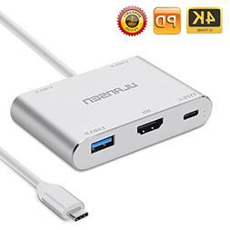 USB C Hub ULANSEN 5-Port USB Charging Hub with Type C Power