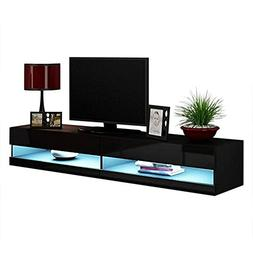 """Vigo 180 LED Wall Mounted Floating TV Stands Fits 80"""" TV"""