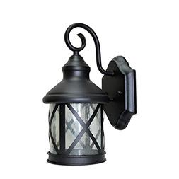 LED Outdoor Wall Lantern Light, Black, 9 Watts , 120V, 400 L