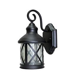LED Outdoor Wall Lantern Light, Black, 9 Watts , 120V, 400 L