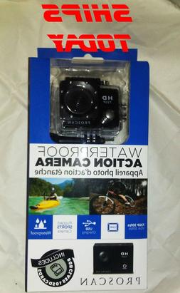 Proscan Waterproof Action Camera 720P w/8GB SD Card & Hardwa