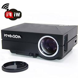 Modawn 1080P Wifi Display 1200 Lumens Movie Projector UNIC H