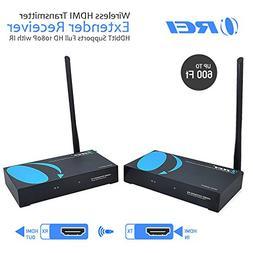 OREI Wireless HDMI Transmitter Extender Receiver HDbitT Supp