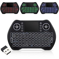 Wireless Keyboard with Touchpad Mouse, Mini Remote Keyboard