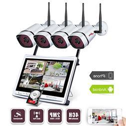 Wireless Security Camera System, ANRAN 4CH 1080P Video Secu